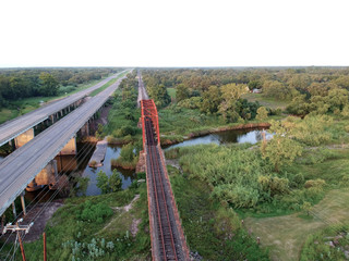 Rusty old bridge