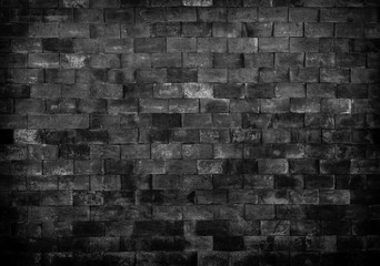 Black and White brick wall texture for background.