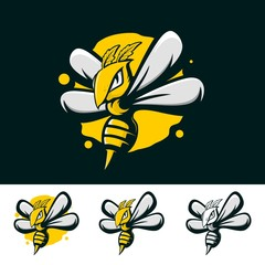 BEE MASCOT LOGO FOR GAMING