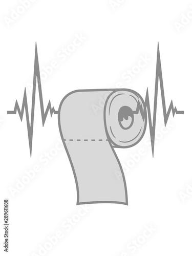 Herzschlag Puls Frequenz Toiletten Papier Klopapier Klo