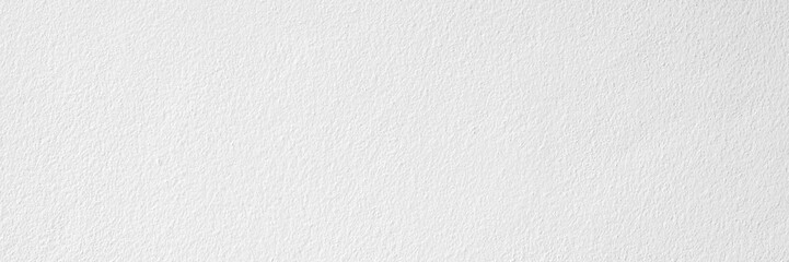 Wide image white natura pattern of paper texture cement or concrete wall for background and copy space for text.