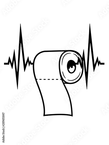 Frequenz Herzschlag Puls Toiletten Papier Klopapier Klo