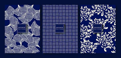 Japanese Indigo Blue Background