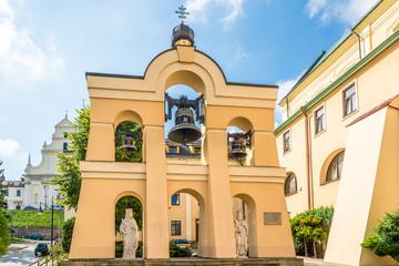Fototapeta View at the Belfry  of Greek Catholic Church of Saint John the Baptist in Przemysl - Poland