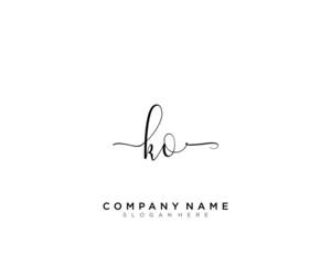 Obraz K O KO  Initial handwriting logo vector - fototapety do salonu