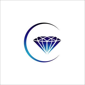 creative style geometric shape diamond line art logo vector icon