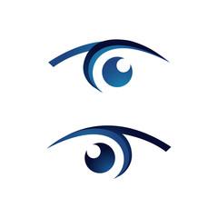 Vision Eyes Logo design idea concept vector illustrations