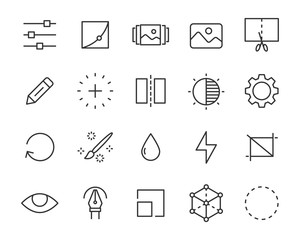 set of image editing icons, photo, design, picture