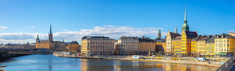 Wall Murals Stockholm Panoram view of Stockholm skyline with view of Gamla Stan in Stockholm, Sweden