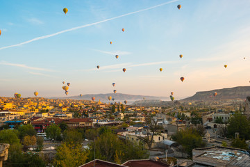 Wall Mural - Cappadocia city skyline in Goreme, Turkey