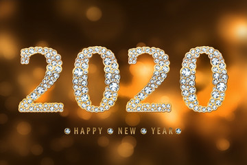 happy new year 2020 Fototapete