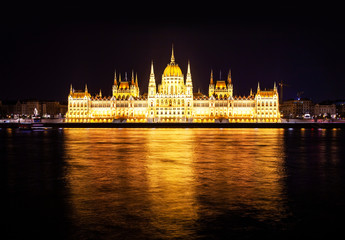 Wall Mural - Hungarian Parliament Building at night
