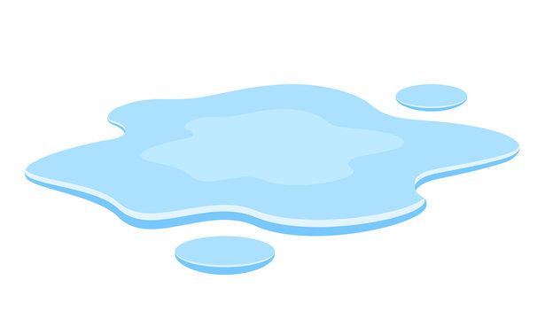 Water spill vector illustration