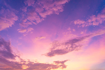 Foto op Canvas Candy roze Beautiful clouds sky. Sunset sky. Gradient Sky pink and purple.jpg
