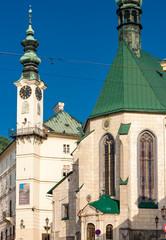 Fotomurales - central square, Banska Stiavnica, Slovakia