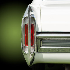 Tail light of a classic american car from the fifties