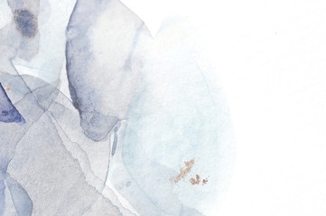 Fototapeta Abstract marble minimal background. Scandinavian design. Hand drawn watercolor  illustration obraz