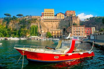 Wall Mural - Port Marina Grande in Sorrento town. Amalfi coast, Campania, Italy
