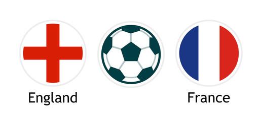 Fototapeta England versus France - Vector banner for soccer competition. obraz