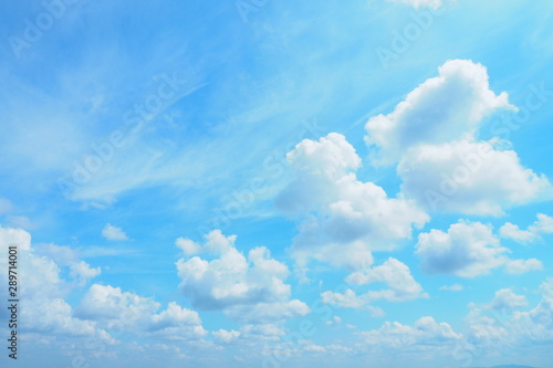 Beautiful Bright Blue Sky And White Clouds For Cute