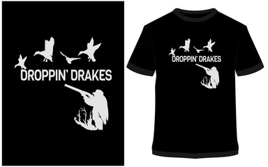 Dropping drakes Vector graphic typographic poster. label, badge, logo, icon or t-shirt