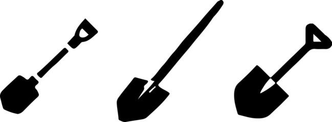 shovel vector on white background