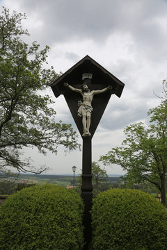 Crucifixion, parish church of St. James in Hohenberg, Germany