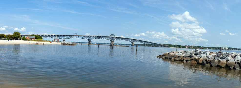The George P. Coleman Memorial Bridge (known locally as simply the Coleman Bridge) is a double swing bridge that spans the York River between Yorktown and Gloucester Point, Virginia.