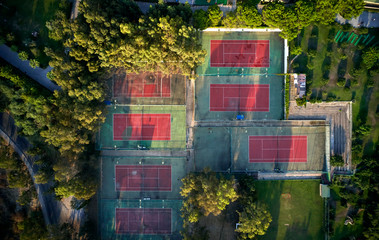 top view of the tennis courts