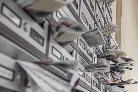 Modern metal mail boxes