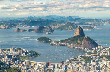 Rio de Janeiro, Brazil, view from the CHrist the Redemtor stuate