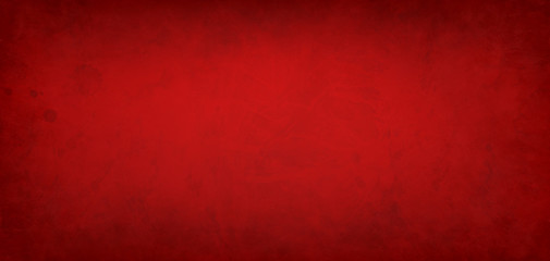 Wall Mural - Red background with paint stains and spatter and old vintage grunge texture design, elegant rich Christmas red color for the holidays