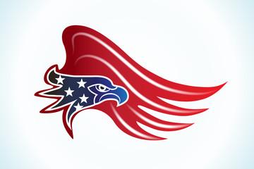Bald Eagle American Flag vector web image graphic design