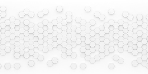 Bright hexagon wallpaper or background - 3d render