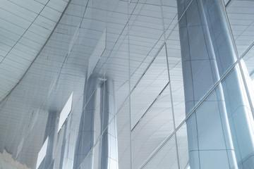 Foto auf Leinwand An der Decke Glass wall