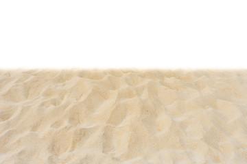 Fototapete - Beautiful nature beach sand texture isolated on white