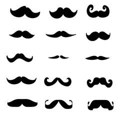 doodle Moustache icon illustration vector collection