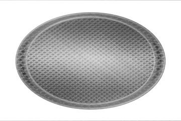 silver circle plate mesh texture