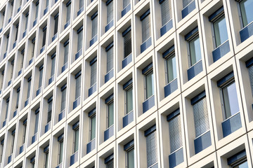 Fassade eines Bürogebäudes in der Innenstadt von Berlin