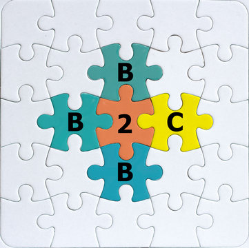 b2b and b2c business to business or business to customer concept