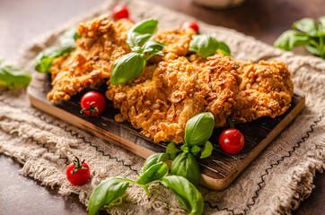 Crispy chicken steak cornflakes