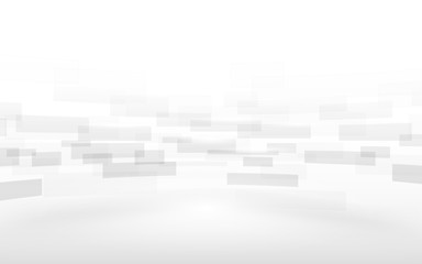 Abstract white rectangles motion background. vector design