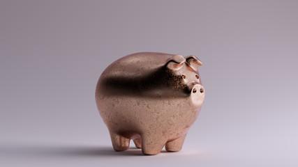 Bronze Piggy Bank 3 Quarter Right View 3d illustration 3d render Fototapete