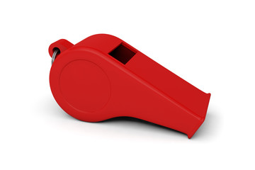 whistle referee judge umpire sport football accessory red
