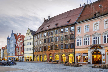 Wall Mural - Altstadt street in Landshut, Germany