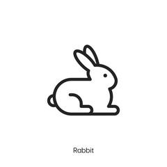 Rabbit icon vector symbol. Rabbit symbol icon vector.