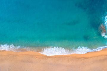 Fototapete - Spain, Costa Brava resort. Tropic coast.