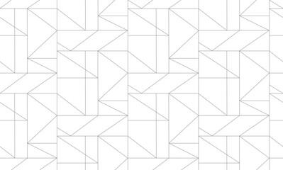 Fototapeta Seamless thin linear pattern. Abstract geometric background. Stylish texture.