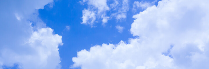 Blue sky background banner