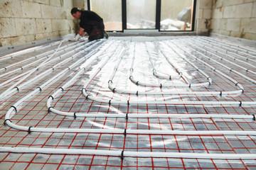 underfloor heating installation. Floor Heating system